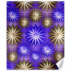 Stars Patterns Christmas Background Seamless Canvas 8  x 10