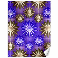 Stars Patterns Christmas Background Seamless Canvas 36  x 48