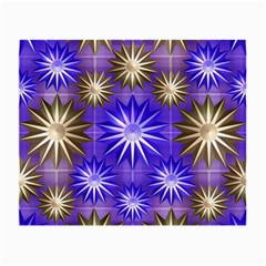 Stars Patterns Christmas Background Seamless Small Glasses Cloth (2-Side)