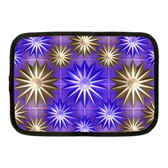 Stars Patterns Christmas Background Seamless Netbook Case (Medium)