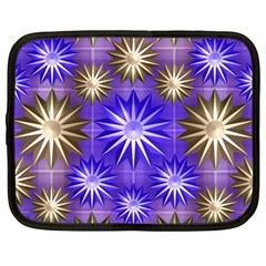 Stars Patterns Christmas Background Seamless Netbook Case (Large)