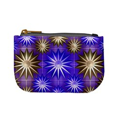 Stars Patterns Christmas Background Seamless Mini Coin Purses