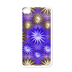 Stars Patterns Christmas Background Seamless Apple Iphone 4 Case (white)