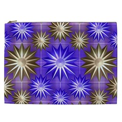 Stars Patterns Christmas Background Seamless Cosmetic Bag (xxl)