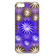 Stars Patterns Christmas Background Seamless Apple Seamless Iphone 5 Case (clear)