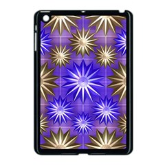 Stars Patterns Christmas Background Seamless Apple Ipad Mini Case (black)