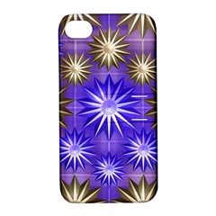 Stars Patterns Christmas Background Seamless Apple Iphone 4/4s Hardshell Case With Stand