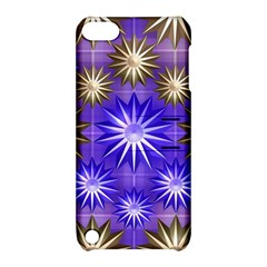 Stars Patterns Christmas Background Seamless Apple Ipod Touch 5 Hardshell Case With Stand
