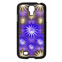 Stars Patterns Christmas Background Seamless Samsung Galaxy S4 I9500/ I9505 Case (black)