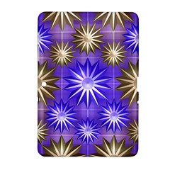Stars Patterns Christmas Background Seamless Samsung Galaxy Tab 2 (10 1 ) P5100 Hardshell Case
