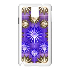 Stars Patterns Christmas Background Seamless Samsung Galaxy Note 3 N9005 Case (white)