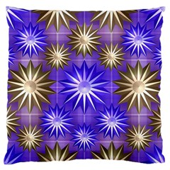 Stars Patterns Christmas Background Seamless Standard Flano Cushion Case (Two Sides)
