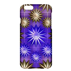Stars Patterns Christmas Background Seamless Apple Iphone 6 Plus/6s Plus Hardshell Case