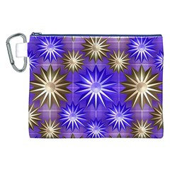 Stars Patterns Christmas Background Seamless Canvas Cosmetic Bag (XXL)