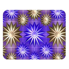 Stars Patterns Christmas Background Seamless Double Sided Flano Blanket (large)