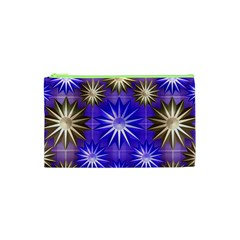 Stars Patterns Christmas Background Seamless Cosmetic Bag (XS)