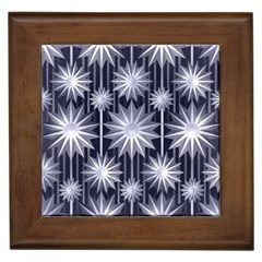 Stars Patterns Christmas Background Seamless Framed Tiles