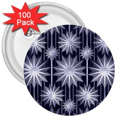 Stars Patterns Christmas Background Seamless 3  Buttons (100 Pack)