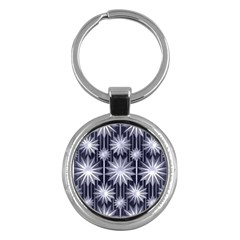 Stars Patterns Christmas Background Seamless Key Chains (round)