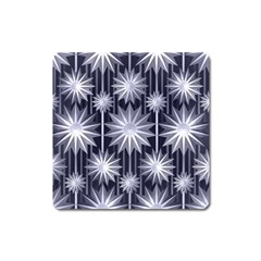 Stars Patterns Christmas Background Seamless Square Magnet