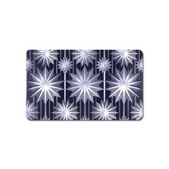 Stars Patterns Christmas Background Seamless Magnet (Name Card)