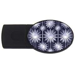 Stars Patterns Christmas Background Seamless USB Flash Drive Oval (1 GB)