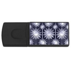 Stars Patterns Christmas Background Seamless USB Flash Drive Rectangular (2 GB)