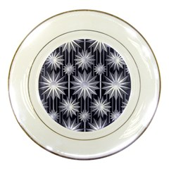 Stars Patterns Christmas Background Seamless Porcelain Plates