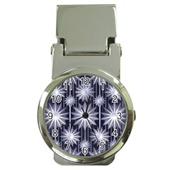 Stars Patterns Christmas Background Seamless Money Clip Watches