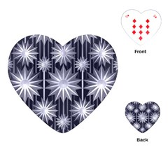 Stars Patterns Christmas Background Seamless Playing Cards (heart)