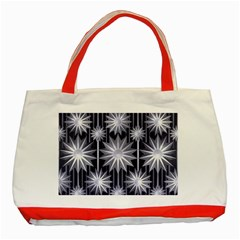 Stars Patterns Christmas Background Seamless Classic Tote Bag (Red)