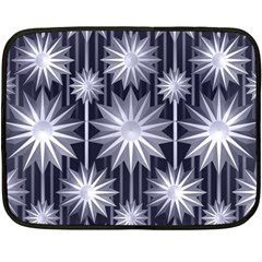 Stars Patterns Christmas Background Seamless Fleece Blanket (Mini)