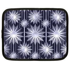 Stars Patterns Christmas Background Seamless Netbook Case (XXL)