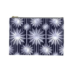 Stars Patterns Christmas Background Seamless Cosmetic Bag (Large)
