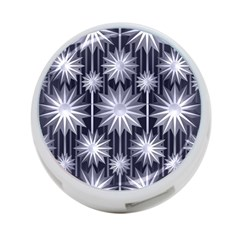 Stars Patterns Christmas Background Seamless 4-Port USB Hub (Two Sides)