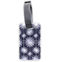Stars Patterns Christmas Background Seamless Luggage Tags (Two Sides)