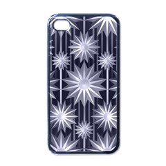 Stars Patterns Christmas Background Seamless Apple iPhone 4 Case (Black)