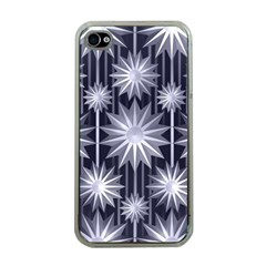 Stars Patterns Christmas Background Seamless Apple iPhone 4 Case (Clear)