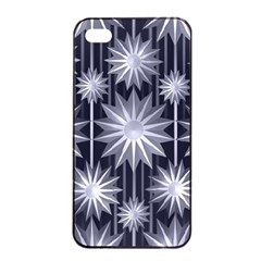 Stars Patterns Christmas Background Seamless Apple Iphone 4/4s Seamless Case (black)