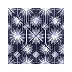 Stars Patterns Christmas Background Seamless Acrylic Tangram Puzzle (6  X 6 )