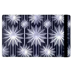 Stars Patterns Christmas Background Seamless Apple Ipad 2 Flip Case