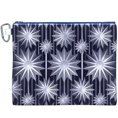 Stars Patterns Christmas Background Seamless Canvas Cosmetic Bag (XXXL)