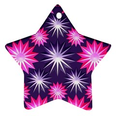 Stars Patterns Christmas Background Seamless Ornament (Star)