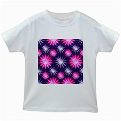 Stars Patterns Christmas Background Seamless Kids White T-Shirts