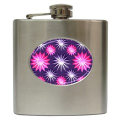 Stars Patterns Christmas Background Seamless Hip Flask (6 oz)