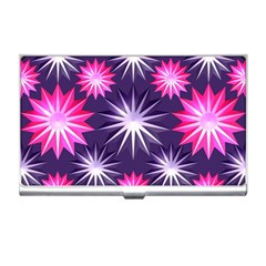 Stars Patterns Christmas Background Seamless Business Card Holders
