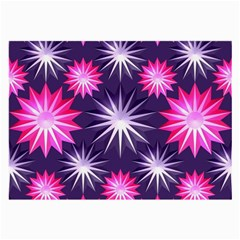 Stars Patterns Christmas Background Seamless Large Glasses Cloth (2-Side)