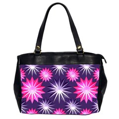 Stars Patterns Christmas Background Seamless Office Handbags (2 Sides)