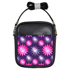 Stars Patterns Christmas Background Seamless Girls Sling Bags