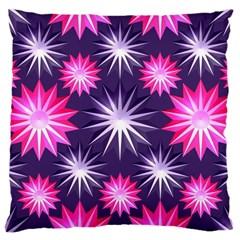 Stars Patterns Christmas Background Seamless Large Cushion Case (two Sides)